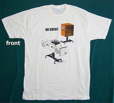 No Doubt! Record Player & Speakers Tan T-Shirt L New