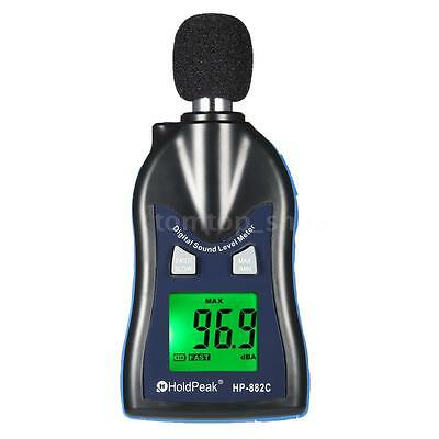 New Indoor Outdoor LCD Digital Sound Level Meter Noise Measuring Instrument Y4A2