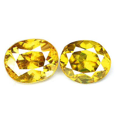 1.90ct EYE CLEAN NATURAL EARTH MINED AAA YELLOW GREEN MULTI COLOR SPHENE REF VDO