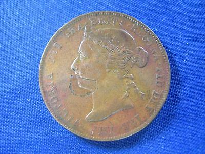 EAST AFRICA PROTECTORATE - 1898 copper 1 Pice - obv. planchet flaw - VF details