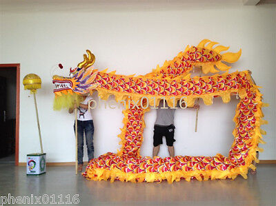7m for 6 student size 5 Chinese DRAGON DANCE ORIGINAL Dragon Costume