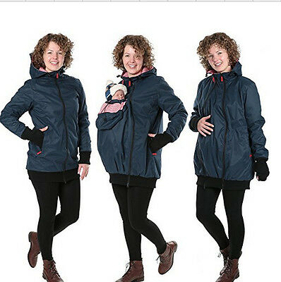 Jacket Kangaroo Winter Maternity Mom Outerwear Coat Pregnant Women Baby Carrier