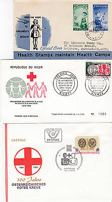 Thematics - Red Cross - Red Crescent - 6 Covers - 2 SCANS (RC 2711 1c)