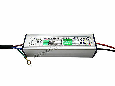 2pcs DC 36V-63V 600mA 36W High Power Led Driver Constant Current Power Supply