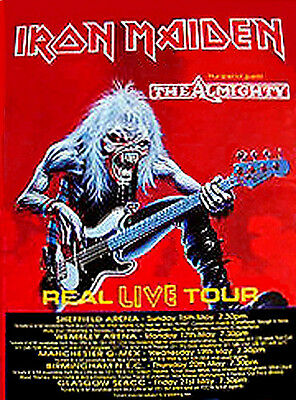 """Iron Maiden """" Real Live Tour-Real Classic""""-Giant 40"""" X 60"""" Rare Subway Poster"""
