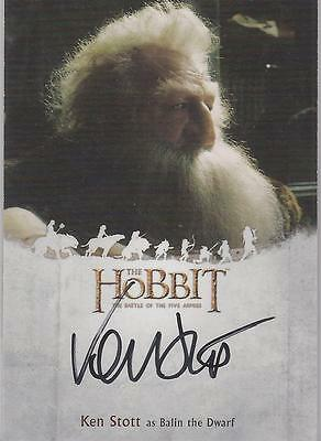 "The Hobbit Battle of the Five Armies - KS Ken Stott ""Balin"" Autograph Card"