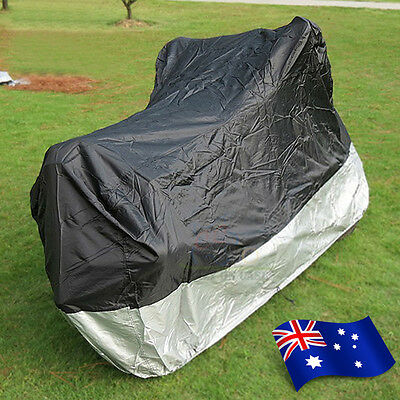 L Large Outdoor Motorcycle Motorbike Cruiser Bike Scooter Cover Waterproof ZM1BS