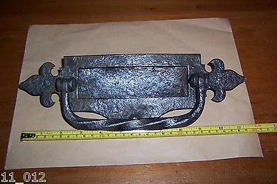 Vintage/antique metal/wrought iron letter box & door knocker for restoration