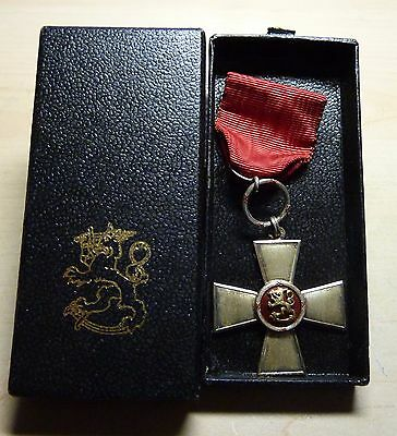 Finland Silver Order of the Lion Cross with Original Case