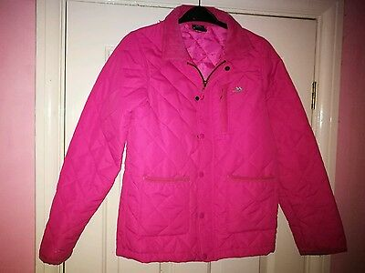 Girls Pink Quilted Trespass Coat Age 11-12
