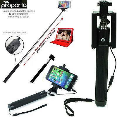 selfie stick monopod telescopic arm 1m long with mirror and audio cable. Black Bedroom Furniture Sets. Home Design Ideas