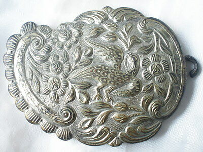 Macedonia Greek Antique Silver Belt Buckles Hand - forged 19th c. Ottoman Floral