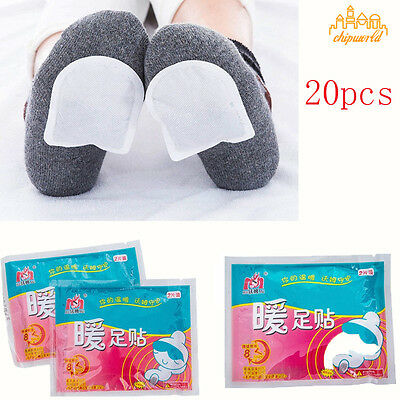 20X Foot Warmer Stick Lasting Heat Patch Keep Body Hand Foot Warm Paste Pads #2