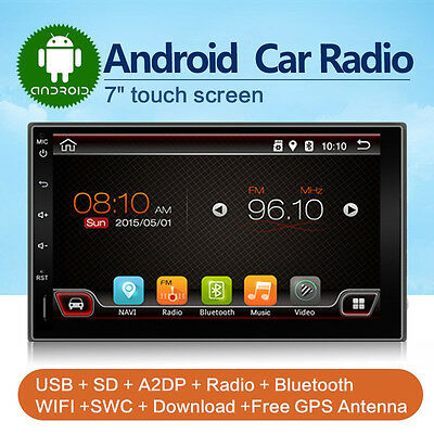 """7"""" Double 2 DIN Android Car No-DVD Player Stereo for Nissan universal GPS Radio"""