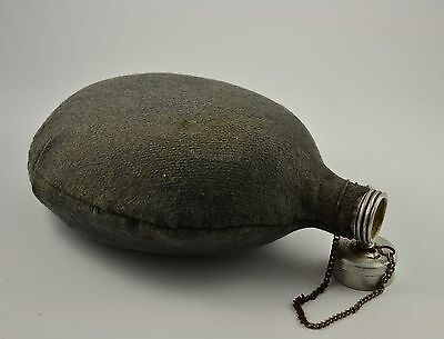 Vintage Wwii Bulgarian Military Wool Cover Aluminum Canteen