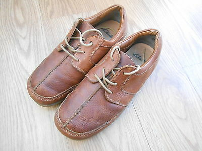 Clarks Brown  Leather Shoes  Size Uk 7