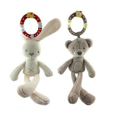 Lovely Baby Toy Soft Plush Doll Baby Rattle Ring Bell Crib Bed Hanging Doll Gift