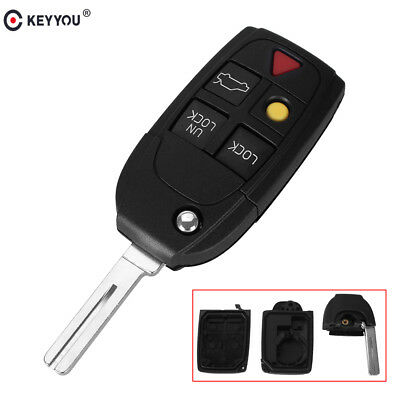 Flip Remote Key Shell Case Fob 3 Buttons Fit For VOLVO S80 S60 V70 XC70 XC90 C30