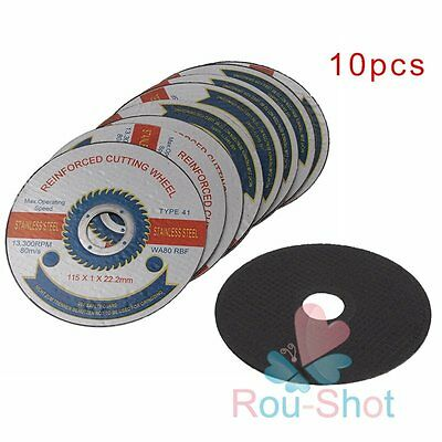 "10 Pack 115mm/4.5"" Thin Stainless Steel Grinding Cutting Wheels Discs Blade New"