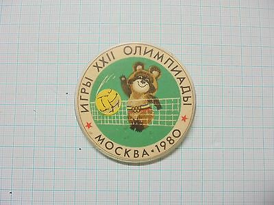 Moscow 1980 Summer Olympic Olympics Volleyball pin badge