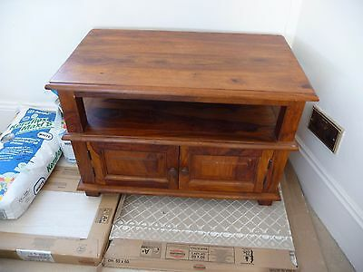 Small Teak Wooden TV Unit Table Cabinet