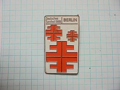 Germany Berlin 1968 Gymnastics Competition pin badge