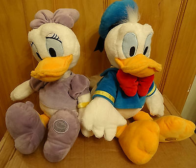 Disney Store Donald and Daisy Duck soft toy plush