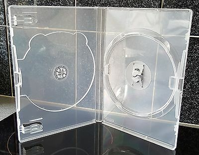 DVD case - Double Clear replacement case for two discs - 5 cases per order