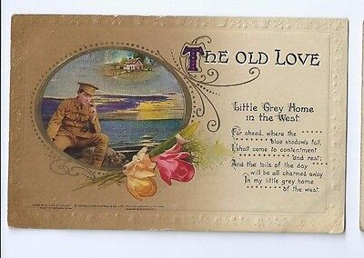 Postcard The Old Love Bamforth Holmfirth Song Card Soldier in Uniform 1917