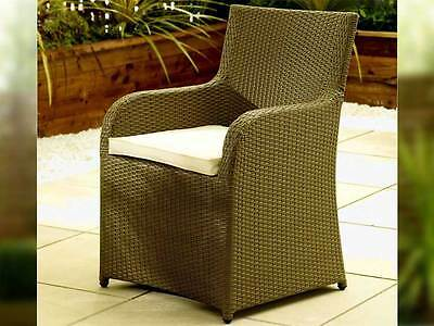 Pair Of Rattan Garden Furniture Chair Set Patio Conservatory Outdoor Chairs