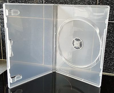 DVD case - Single Clear replacement case for one disc - 5 cases per order