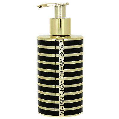 "VIVIAN GRAY 3714 ""Stripes"" Seifenspender mit Creme Seife, gold (250 ml)"