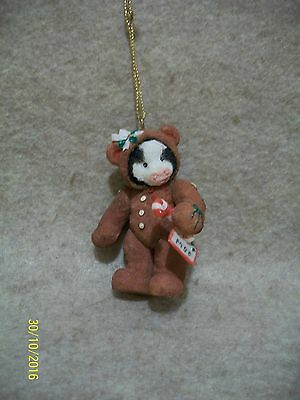 Jointed Gingerbread Hanging Ornament - Moo Moo