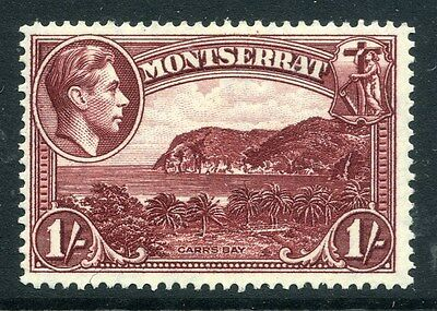 MONTSERRAT;  1938 early GVI issue fine Mint hinged Perf 14 issue, 1s. SP-245843