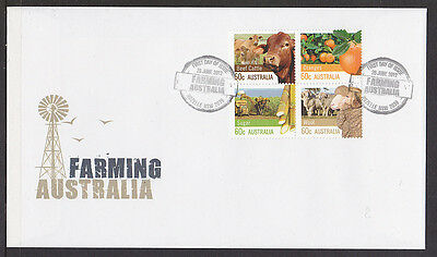 2012 60c FARMING AUSTRALIA BLOCK OF FOUR  STAMPS  FIRST DAY COVER