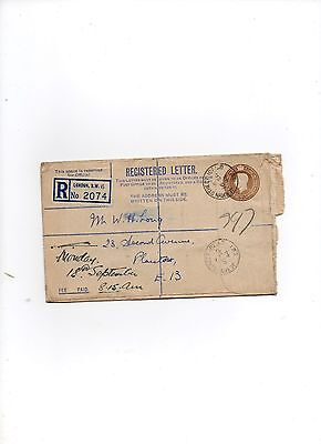 Postal oddments  used registered letter envelope 1944