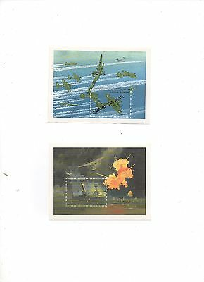 Postal oddments 2 x Barbuda Antigua speciality  $6 stamps unused
