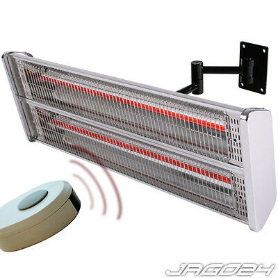Electric Radiant Heater Wall Mounted Infra Red Halogen Infrared Patio Outdoor