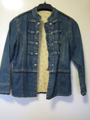 a lovely Girls m & s Denim Jacket Age 11-12 years snap buttons