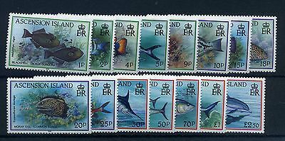 Ascension 1991 fish definitive set fine mnh