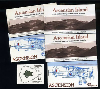 Ascension island selection of complete MNH booklets