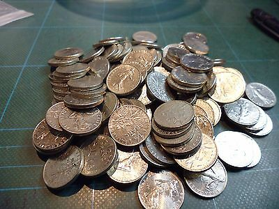 170 French Half Franc coins