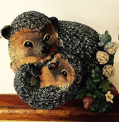 Bramble and Clover Shelf Sitter Figurine Mother and Baby Hedgehog