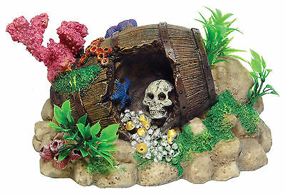 Barrel Reef Aquarium Fish Tank Ornament Decoration