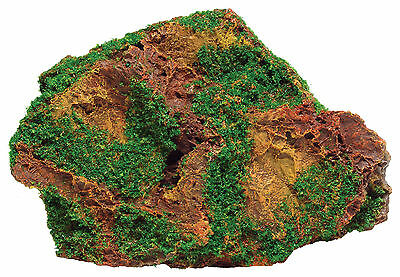 Rock with Moss Aquarium Fish Tank Ornament Decoration