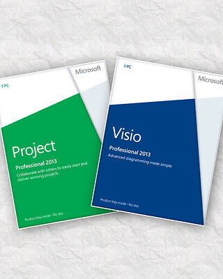 Microsoft Visio & Project Professional 2013 2 Users Bargain