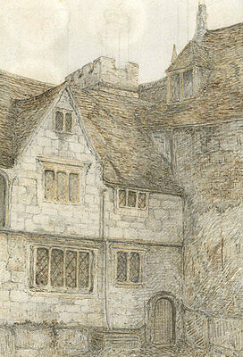 Early 20th Century Pen and Ink Drawing - House Made of Stone