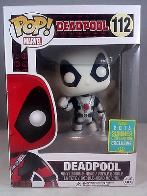 Funko Pop Marvel 112 White Thumbs Up Deadpool 2016 Summer Convention Exclusive