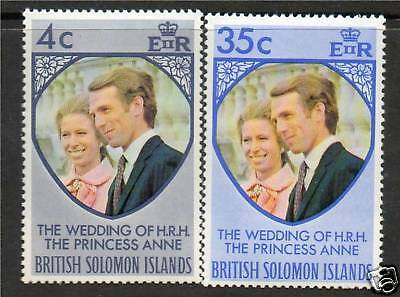 Solomon Is 1973 Royal Wedding SG 245/6 MNH