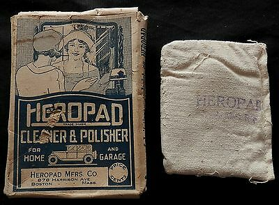 Antique HEROPAD Cleaner & Polisher IN ORIGINAL PACKAGE & PRODUCT  Rare !!!